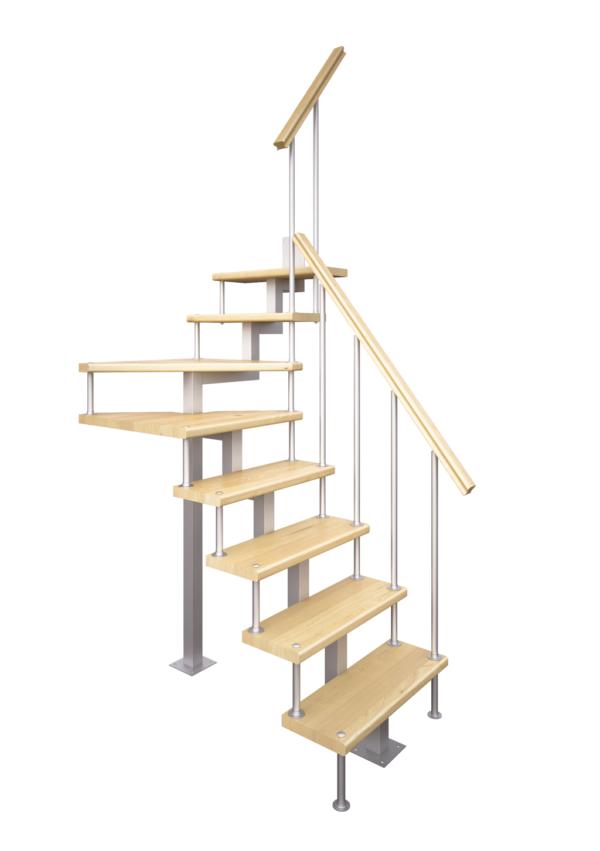 Модульная лестница Компакт-Квадро